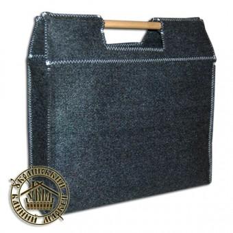 Войлочная сумка с деревянными ручками
