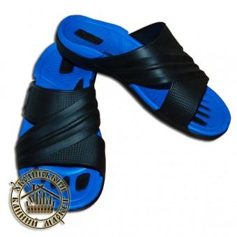 Тапочки резиновые (синий с черным)