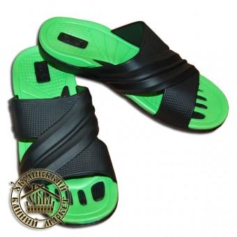 Тапочки резиновые (зеленый с черным)
