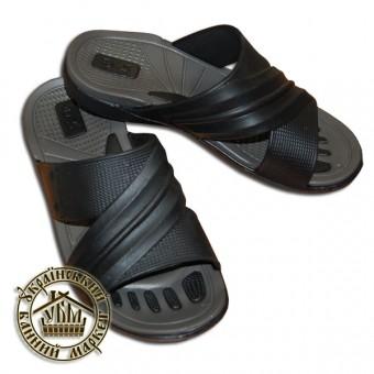 Тапочки резиновые (серый с черным)
