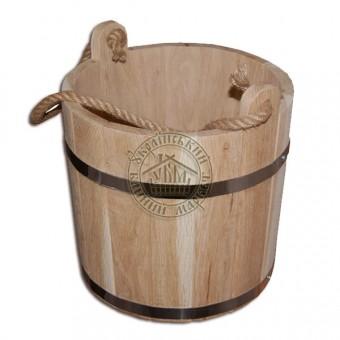Ведро для бани, 12 л дубовое (NS)