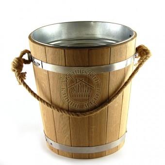 Ведро для бани дубовое со вставкой из оцинковки 12 л