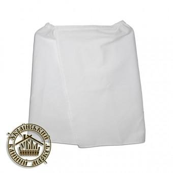 Парео банное вафельное белое (0,45*1,30 м)