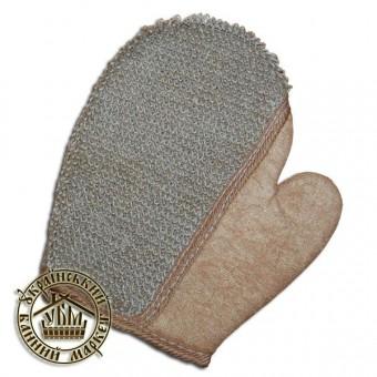Мочалка - рукавица (лен), №14
