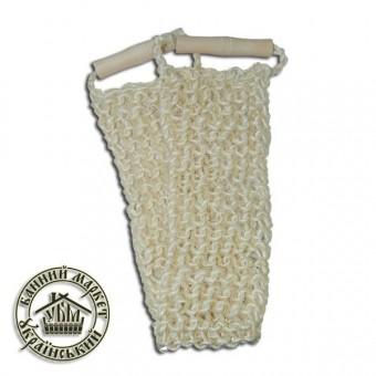 Мочалка для бани, крупная вязка (кокос) №1