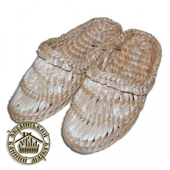 Лапти плетеные, рогоза (43-45 р.)
