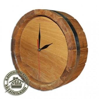 Часы для бани и сауны дубовые